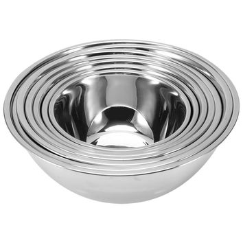 Stainless Steel Mixing Bowls Food Rice Frui Dough Prevent Splash Egg Cake Bread Noodles Salad Mixer Kitchen Cooking Tools