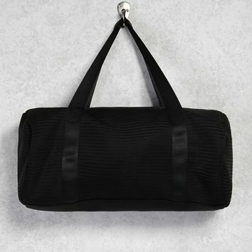 Textured Stripe Duffle Bag