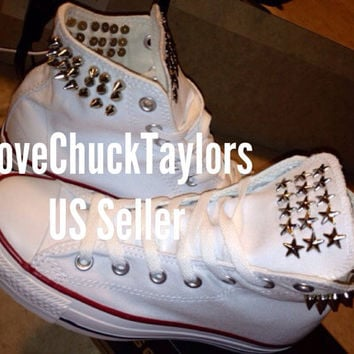 Studded Converse Chuck Taylor's Any Size/Color by LoveChuckTaylors