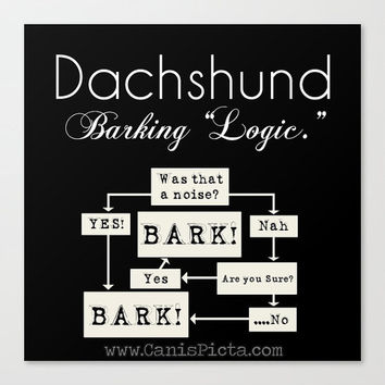 Dachshund 8x8 Pop Art Black White Dog Wall Home Decor Doxie Barking Puppy Pet House Gift Fun Silly Humor Monochromatic Typography Quote Room