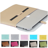 """Fashion PU Leather Sleeve Case For Macbook Air 11"""" Air 13"""" Pro 13"""",Pro 15"""",Retina 13,15, Laptop Bag Pouch,Free Drop Shipping."""