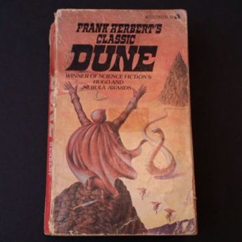 Vintage Dune Paperback Frank Herbert 1965 Ace Books John Schoenherr Cover Artist Epic Science Fiction Literature