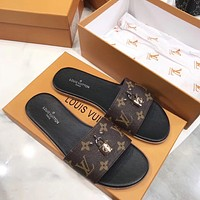 shosouvenir Louis Vuitton Lv Women Fashion Slipper Sandals Shoes