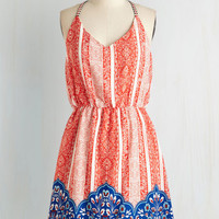 ModCloth Americana Mid-length Spaghetti Straps A-line Independence Sway Dress