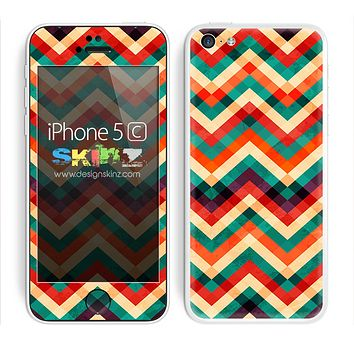 Vintage Color Chevron Pattern V2 Skin For The iPhone 5c