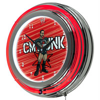 WWE Kids CM Punk Neon Clock - 14 inch Diameter