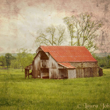 Rustic Country Barn, Lynchburg, 8 x 10 Fine Art Photography, Home Decor, Living Room Decor, Office Decor, Photo Art Print
