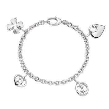 Gucci 1973 Lucky Charms Bracelet in Sterling Silver