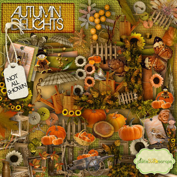 Autumn Delights - Digital Scrapbook Kit and  FREE QuickPage