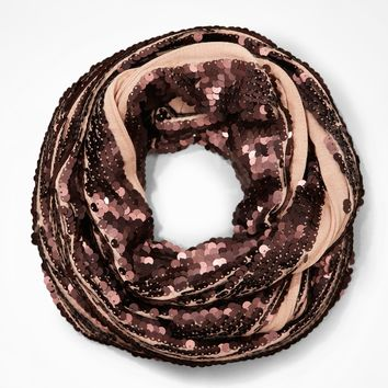 SEQUIN EMBELLISHED INFINITY SCARF