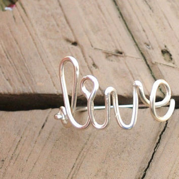 Wire Wrapped Ring Live by KissMeKrafty on Etsy