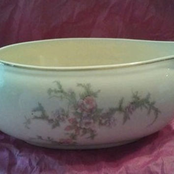 Taylor Smith and Taylor  Brides Bouquet  Pink Gray and purple flowers   Gravy Boat