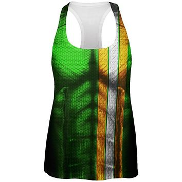 St Patrick's Day Irish Champion Superhero Costume All Over Womens Work Out Tank Top