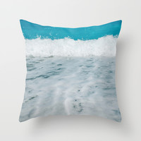 Wave Throw Pillow by SensualPatterns