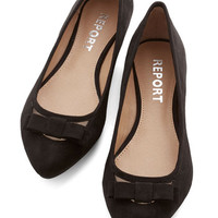 ModCloth Shall We Dance? Flat in Black