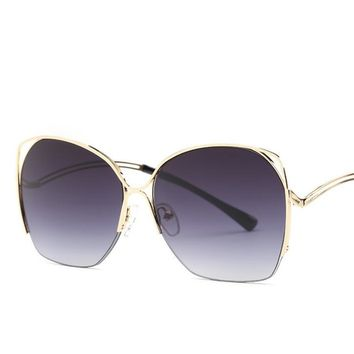 Mirrored and Gradient Lens  Bohemian Vintage Sunglasses