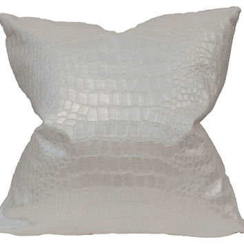 Barclay Butera, Groove 22x22 Pillow, Pearl, Decorative Pillows
