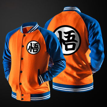 Dropship 2016 Anime Dragon Ball Z GoKu Master Roshi Cosplay Unisex Men Sweatshirt Hip Pop Sudaderas Hombre Baseball Jacket