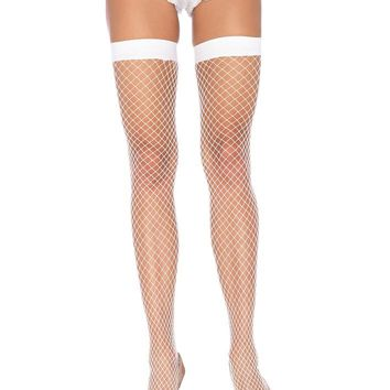 Leg Avenue Female Lycra Industral Fishnet Thigh Hi 9036