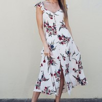 Fleur Button Down Midi Dress