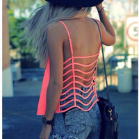 Sexy Backless Shirt Top Tee