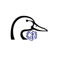 Duck and Monogram Decal Add Personality to Christmas Gifts, Great personal Gift, Gift Wrap Option, Personalize So Many Things