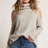 Open-Shoulder Turtleneck Sweater