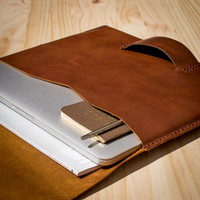 Macbook Pro Retina 13' Rainbow Brandy Leather Sleeve/Cover/Case Portfolio