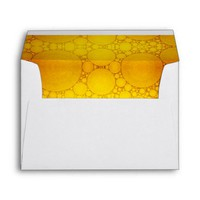 Cute, holiday yellow gold bubble photo art lined envelope