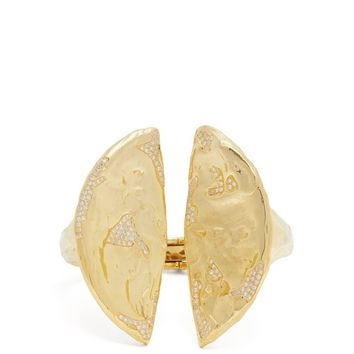 18kt gold and diamond split cuff | Patcharavipa | MATCHESFASHION.COM US