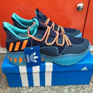 """""""Adidas"""" Men Sport Casual Multicolor Flyknit Basketball Shoes Sneakers"""