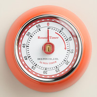 Orange Retro Magnetic Timer - World Market