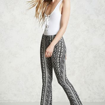 Floral Print Flared Pants