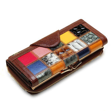 Women Clutch Bag Genuine Leather Purse Wallet