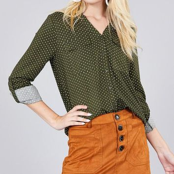 The Perfect Point Top - Olive