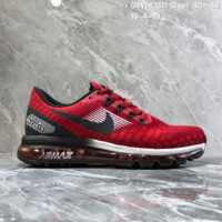 hcxx N1211 Nike AIR Vappormax 2019 Mesh Breathable Fashion Running Shoes Red Black