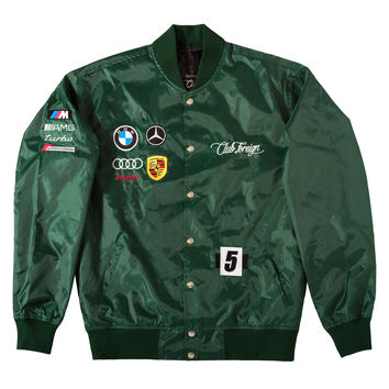 Club Foreign German Race Jacket In Green