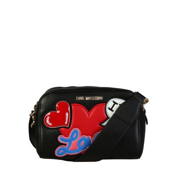 Love Moschino Black Synthetic Leather Clutch Bag