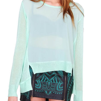 Early Season Top - Mint Sheer