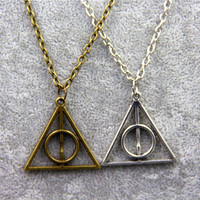 Harry Potter Triangle Deathly Hallows Pendant Necklace