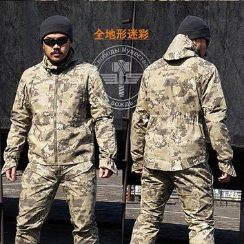 Pro. Camouflage Military  SWAT Equipment Tactical Combat Airsoft Shirts Hunting Clothes