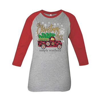 Long Sleeve Christmas Truck Tee by Simply Southern