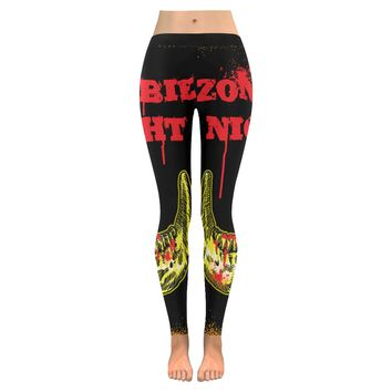 zombie night Low Rise Leggings (Invisible Stitch) (Model L05)