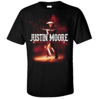 Justin Moore 2013 Black Tour Tee- Outlaws Like Me - Merchandise