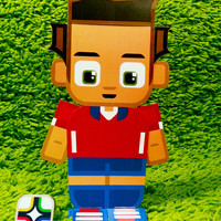Chile football soccer craft activity. Printable paper toy. Instant download. Make you own cards, banners and football soccer bunting!