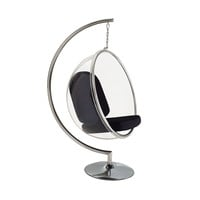 Hanging Orbit Chair in Black