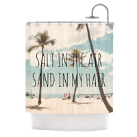 "Nastasia Cook ""Salt in the Air"" Beach Trees Shower Curtain"