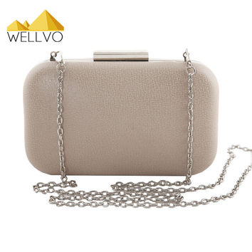 Women Day Clutch Bag Candy Color Ladies Evening Hand Bags Chain Handbags Designer Bridal Wedding Party Purse bolsas mujer XA584C