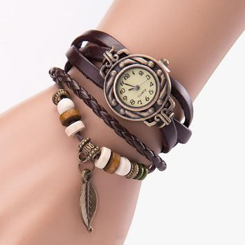 Boho Layered w/ Vintage Plate Watch!