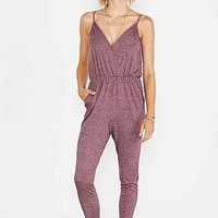 Silence + Noise Marled Surplice Romper-